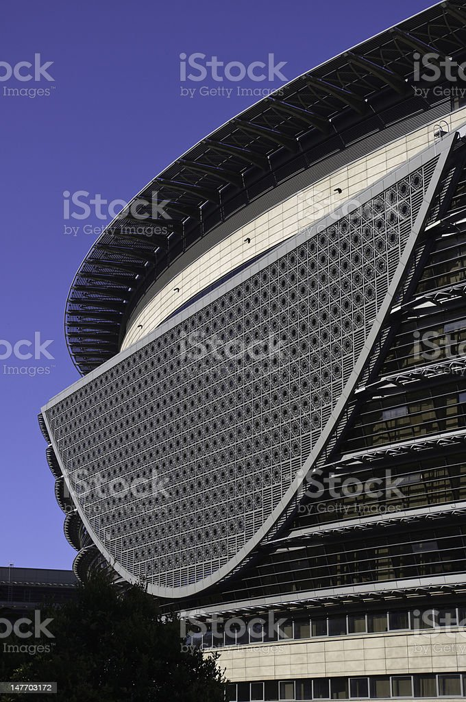 Half Circle Grille of  Circular Building royalty-free stock photo