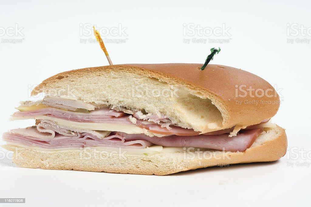 Half cuban sandwich stock photo