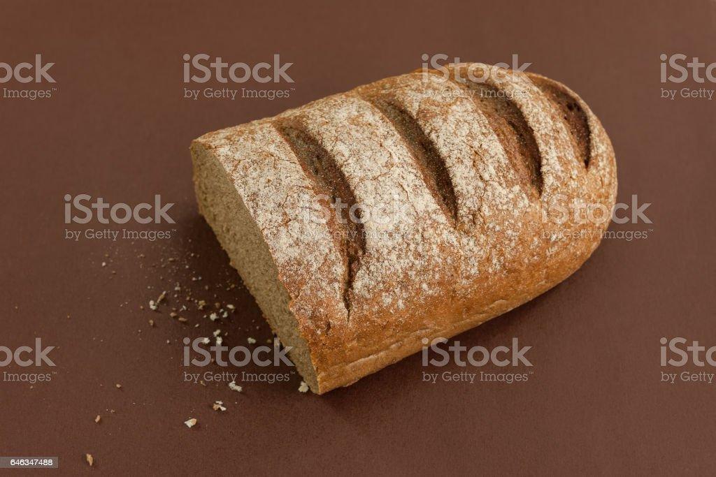 Half dark bread stock photo