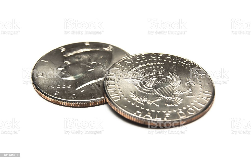 Half Dollar Coins royalty-free stock photo