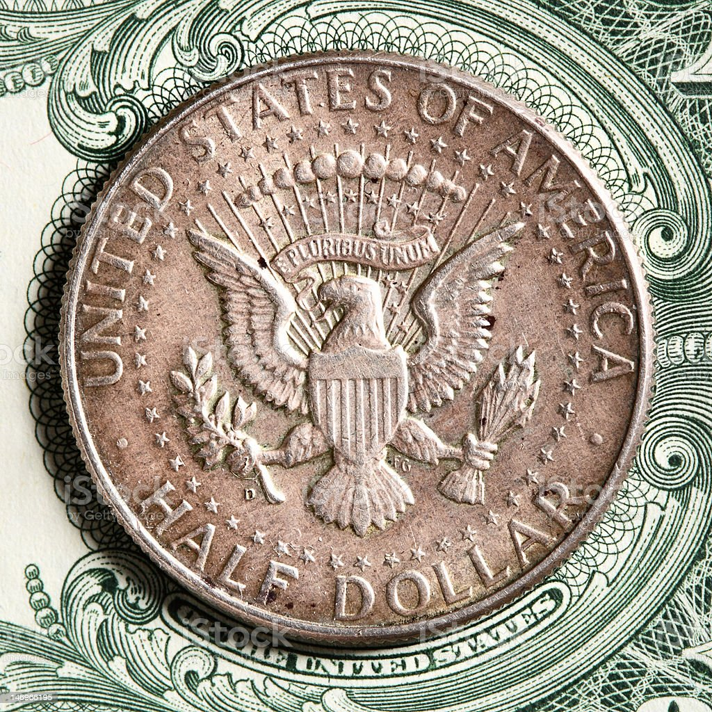 Half dollar royalty-free stock photo