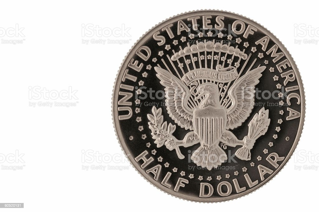US half dollar royalty-free stock photo