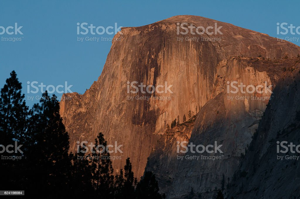 Half Dome alpenglow stock photo
