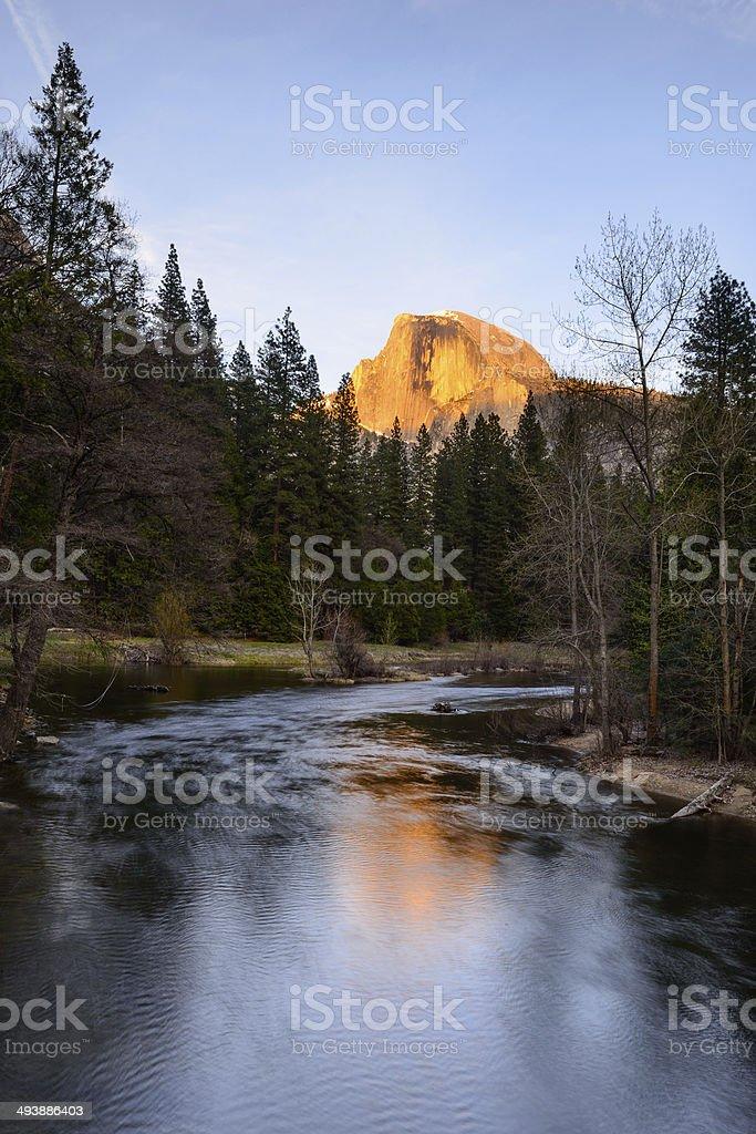 Half Dome and reflection, Yosemite National Park stock photo
