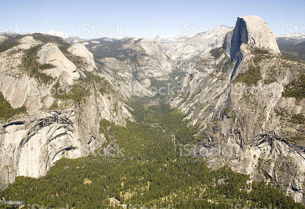 Half Dome and tenaya canyon stock photo