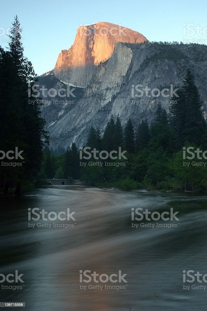 Half Dome at Sunset royalty-free stock photo