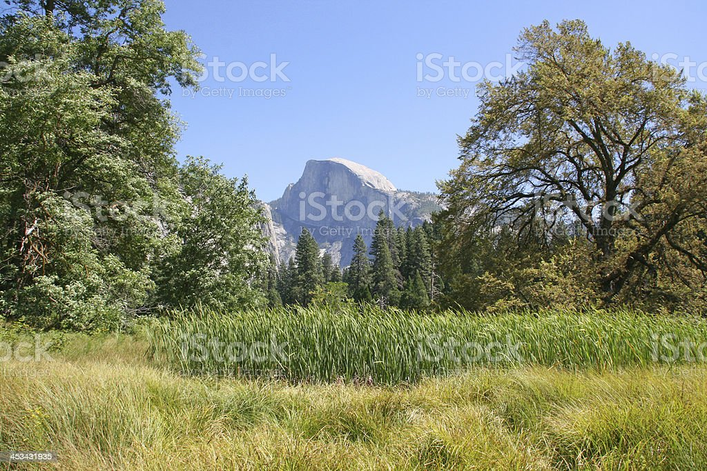 Half Dome at Yosemite National Park, California. stock photo