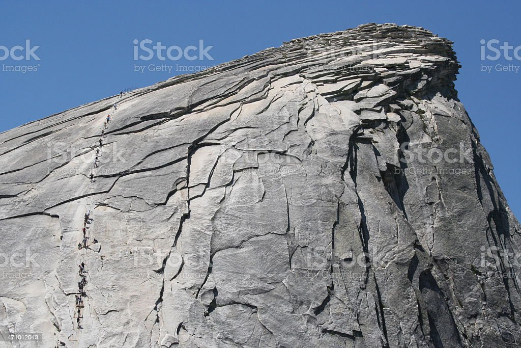 Half Dome Cables royalty-free stock photo