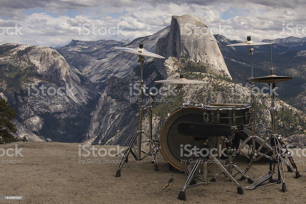 Half Dome Drum Beat... stock photo