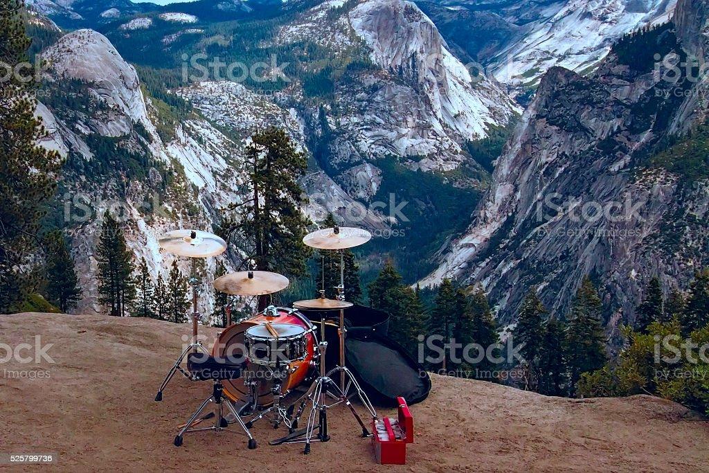 Half Dome Drum set stock photo