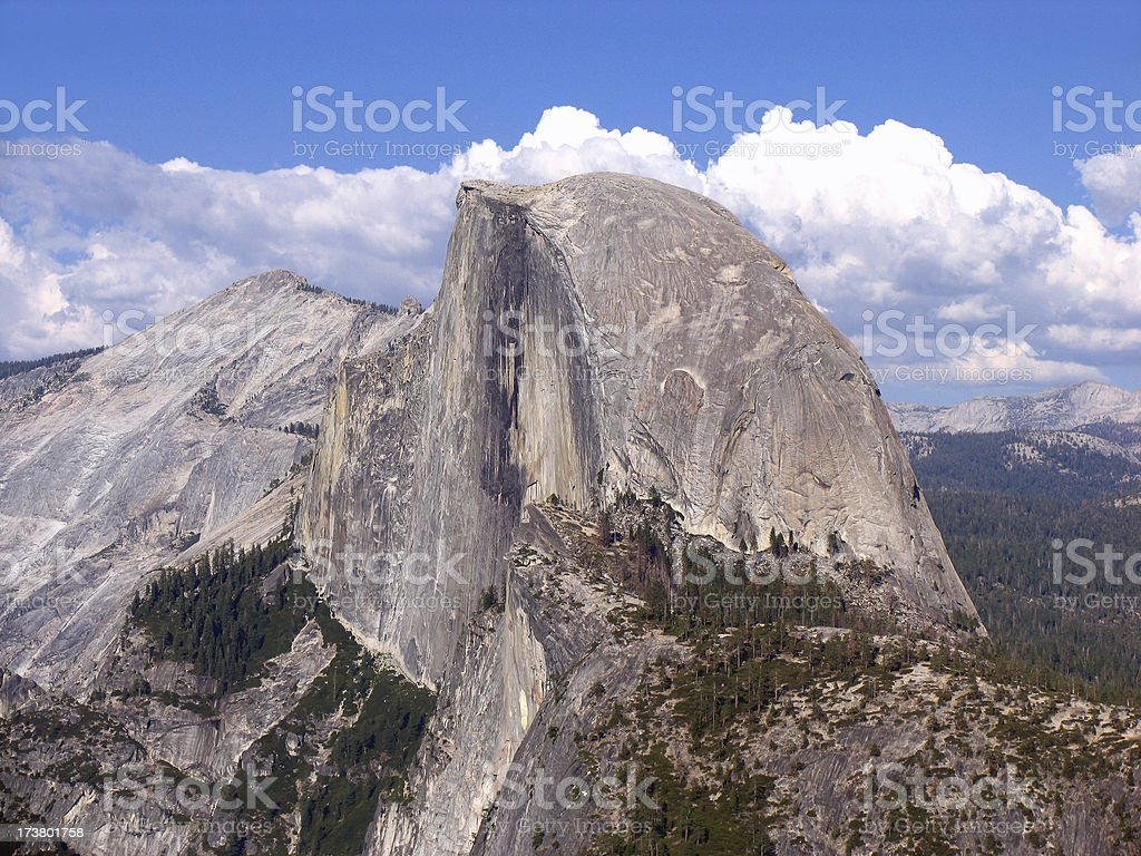 Half dome from glacier point royalty-free stock photo
