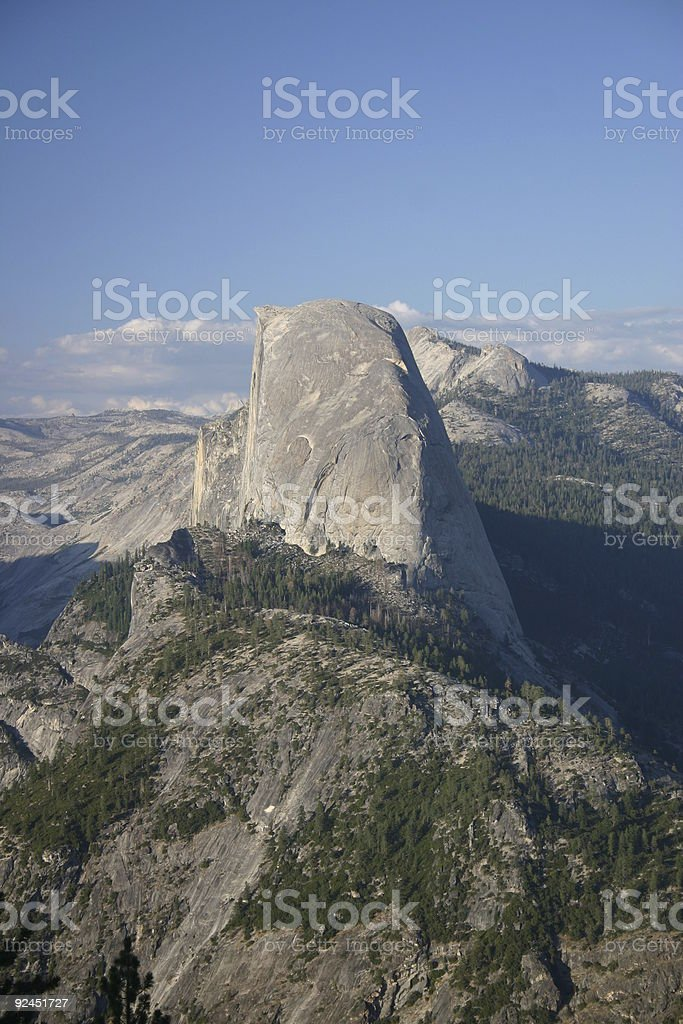 Half Dome from just above Glacier Point stock photo