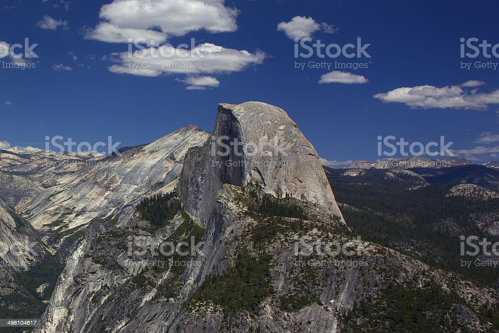Half Dome, Glacier Point in Yosemite National Park, USA royalty-free stock photo