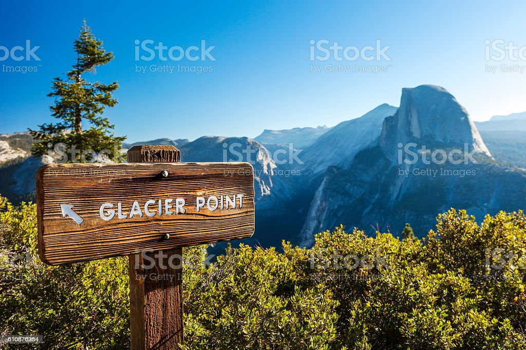 Half Dome In Yosemite National Park stock photo