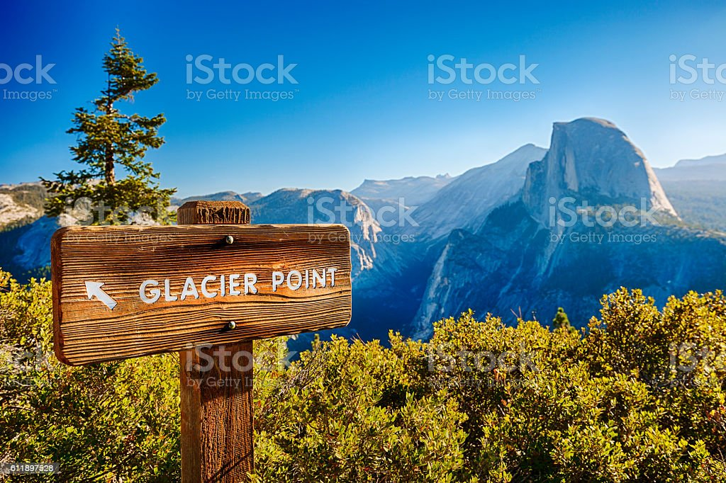 Half Dome In Yosemite National Park, USA stock photo