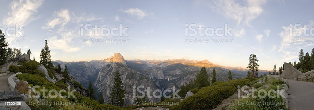 Half Dome Panorama, Yosemite National Park (XXL) stock photo