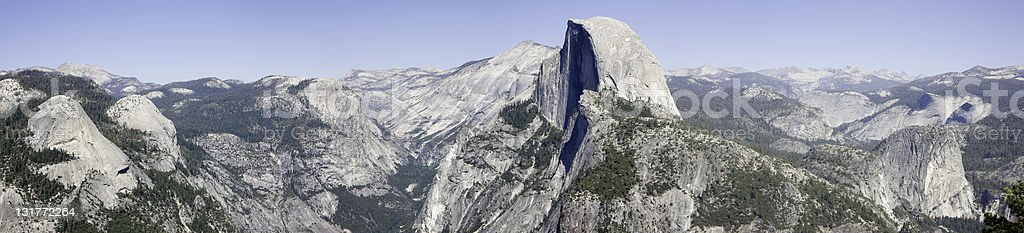 Half Dome Panoramic stock photo