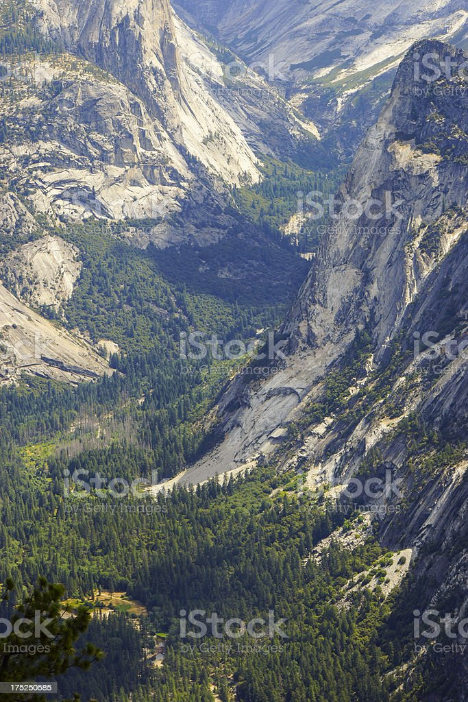 Half Dome Valley in Yosemite National Park royalty-free stock photo