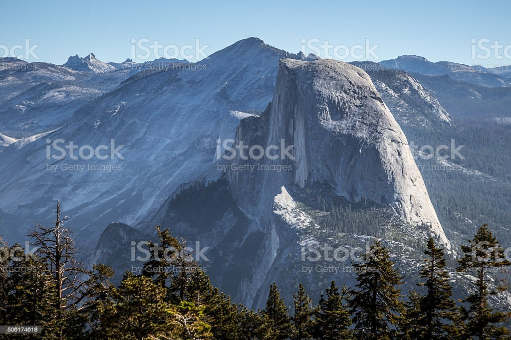 Half Dome View from Sentinel Dome stock photo