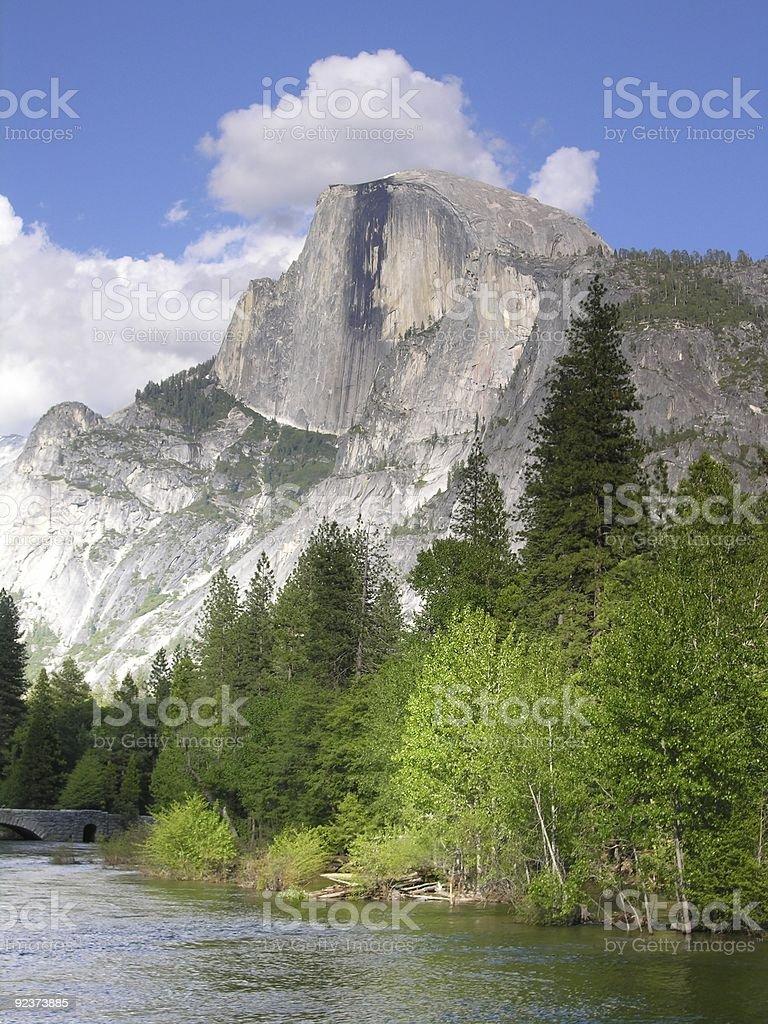 Half Dome View - Yosemite National Park, California, USA stock photo