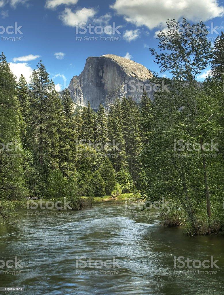 Half Dome Yosemite National Park stock photo