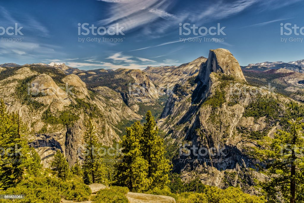 Half Dome Yosemite National Park stock photo