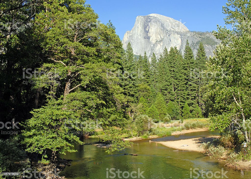 Half Dome, Yosemite National Park, Sierra Nevada Mountains, California stock photo