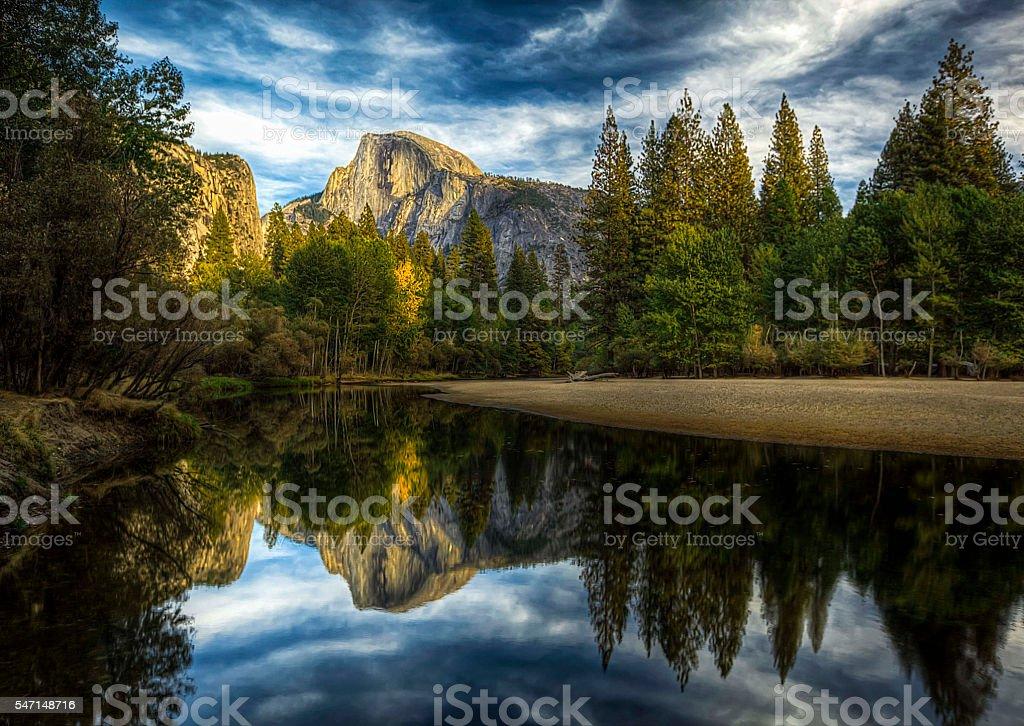 Half Dome Yosemite Valley stock photo