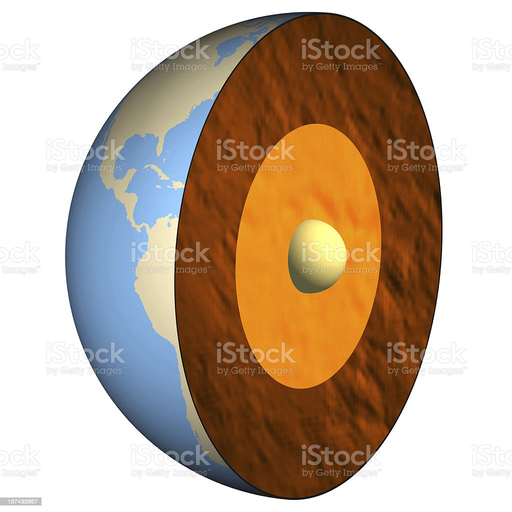 Half Earth stock photo