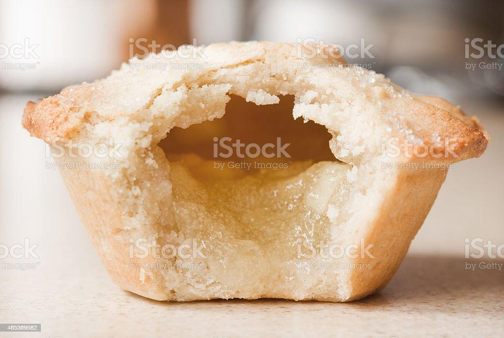 Half eaten apple pie stock photo