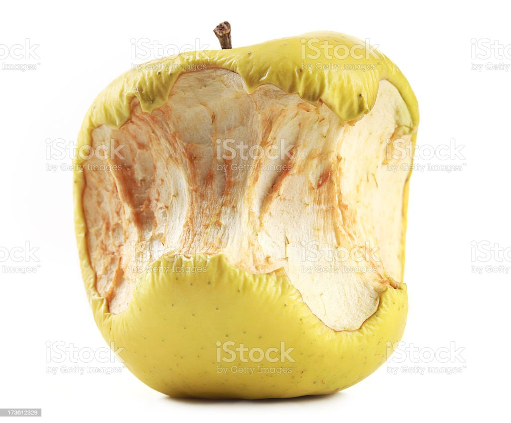 Half Eaten Rotting Apple royalty-free stock photo