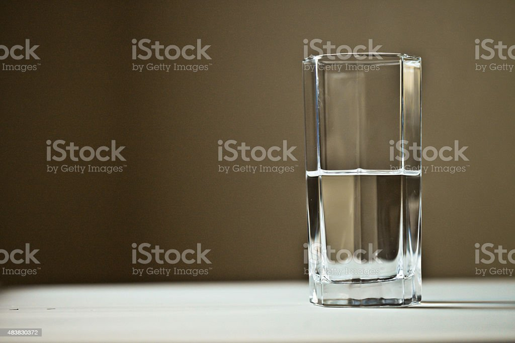 Half empty or half full? stock photo