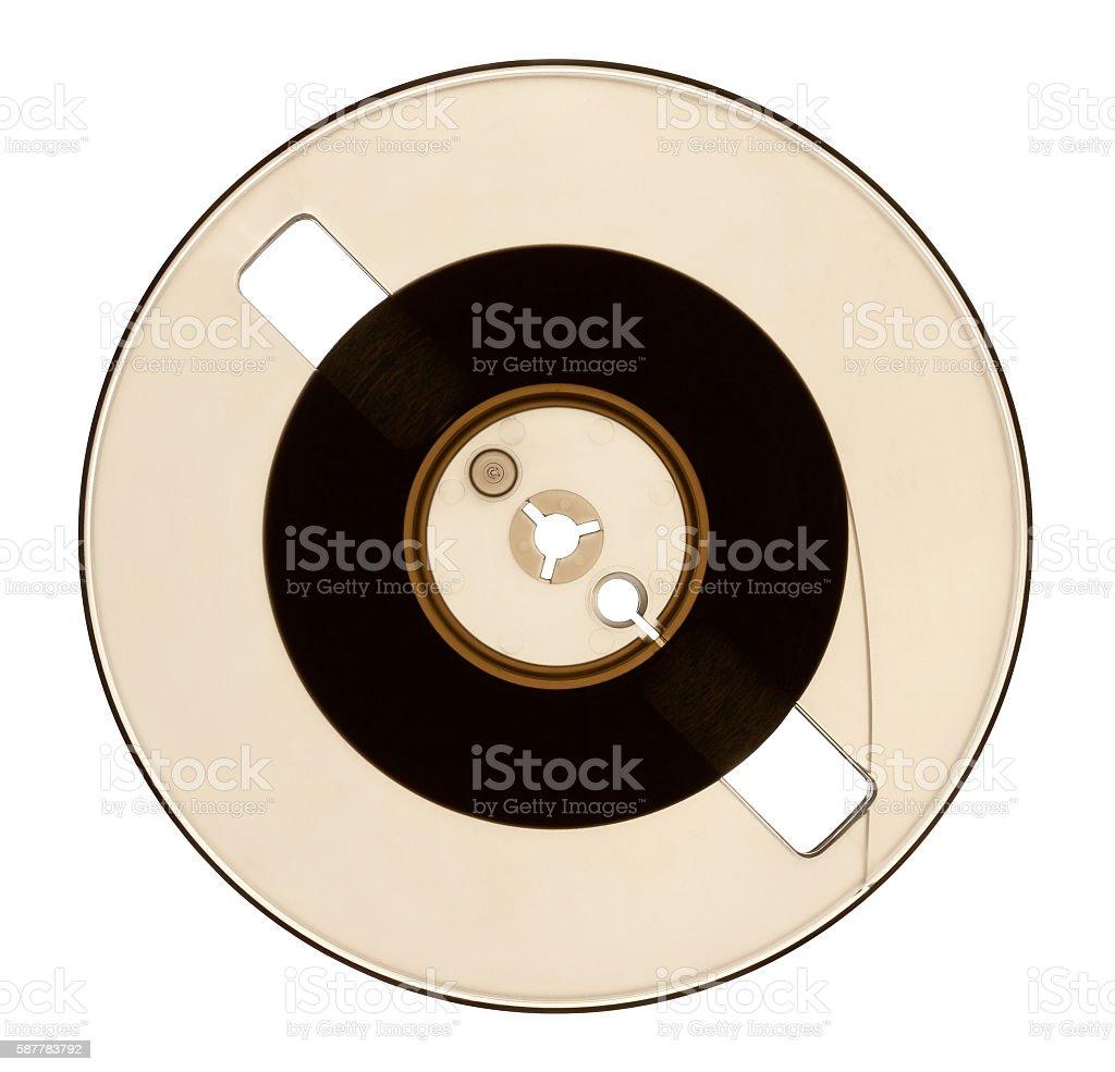 Half Empty Spool of Audio Tape stock photo