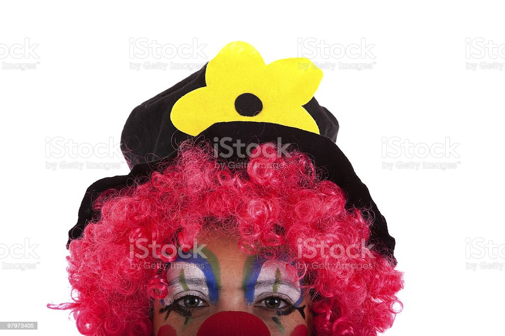 half face from a funny clown royalty-free stock photo