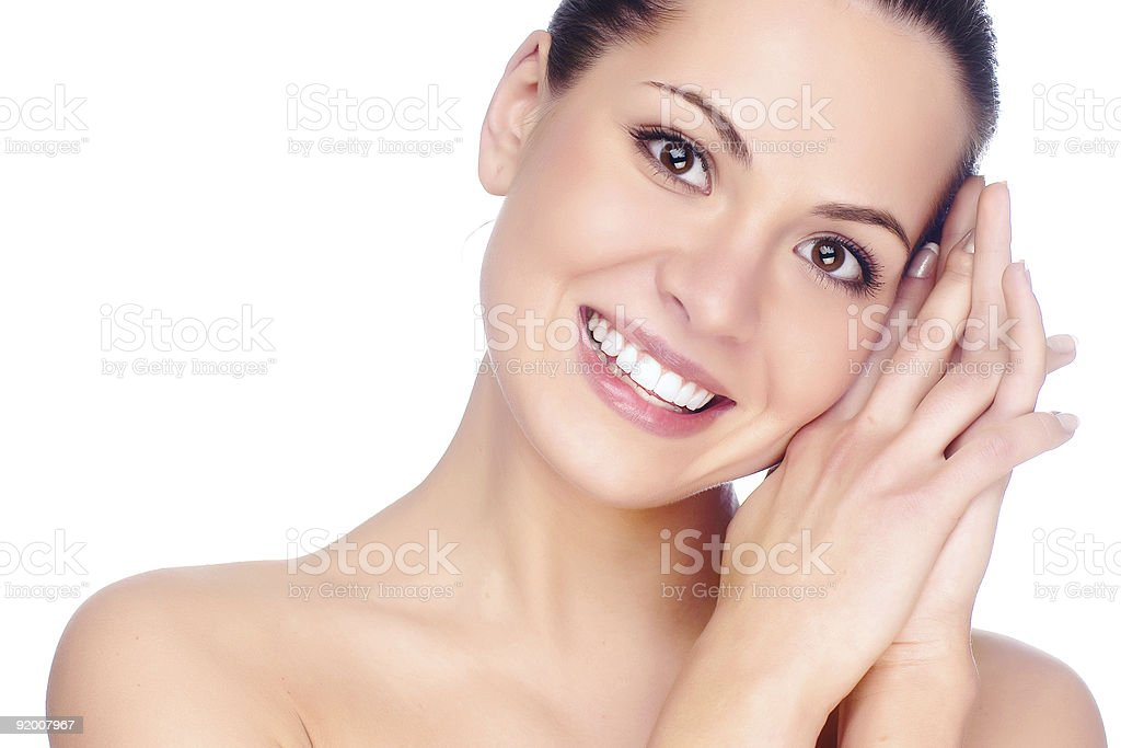 Half face of woman. royalty-free stock photo