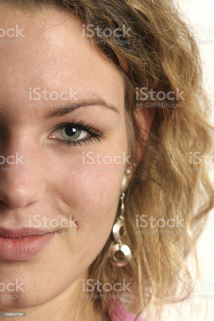 Half face portrait stock photo