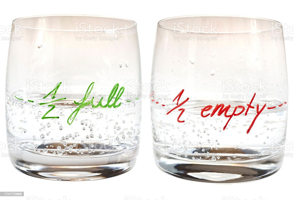 half full - empty stock photo