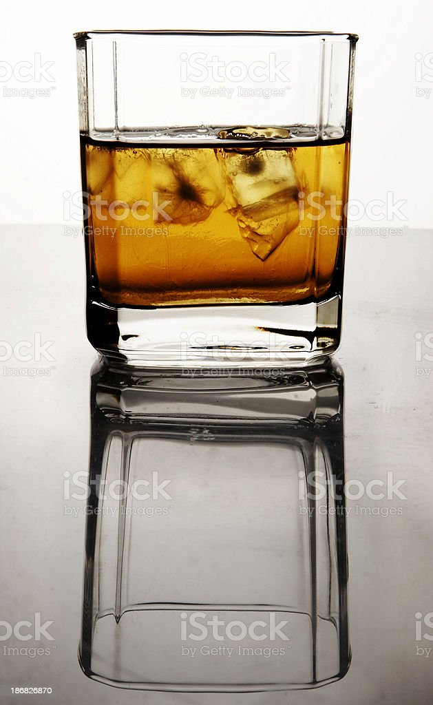 Half full, half empty stock photo