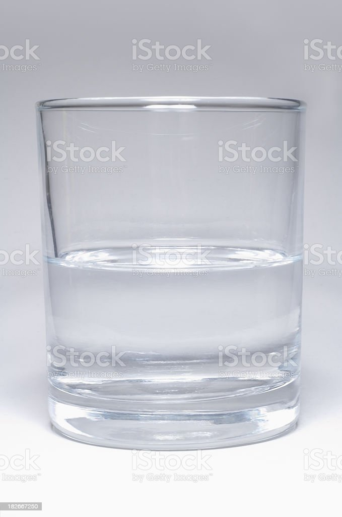 half full or empty glass royalty-free stock photo