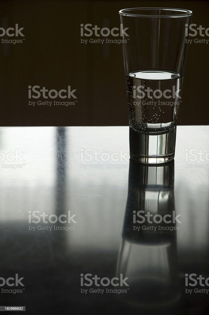 Half full or empty royalty-free stock photo