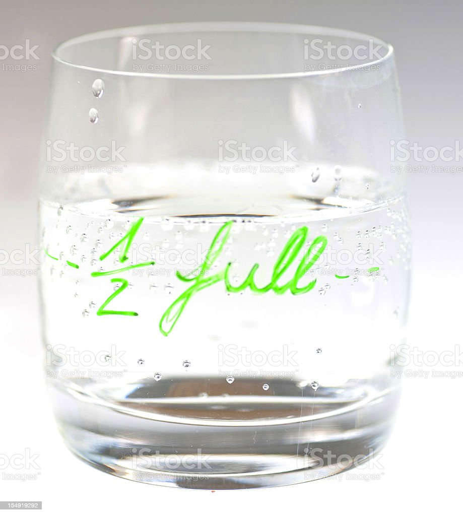 half full stock photo