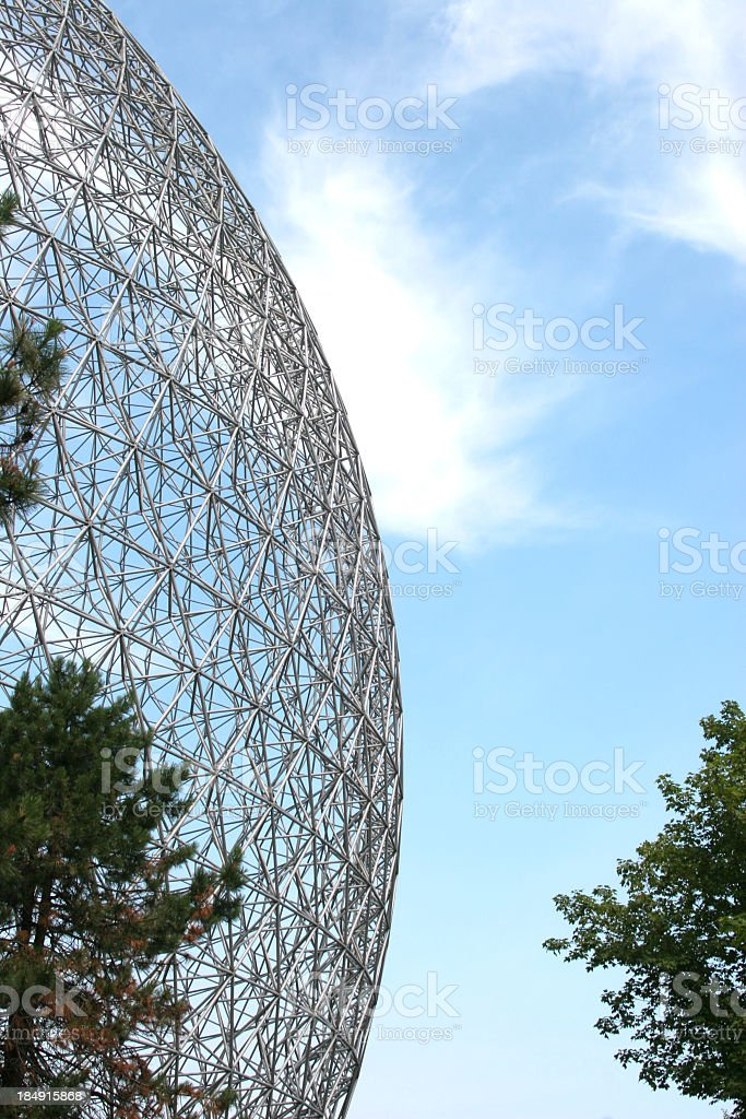 Half geodesic dome royalty-free stock photo