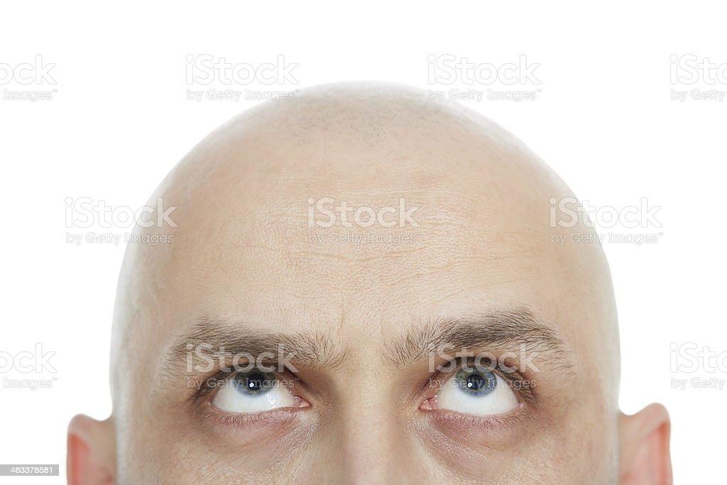Half head stock photo