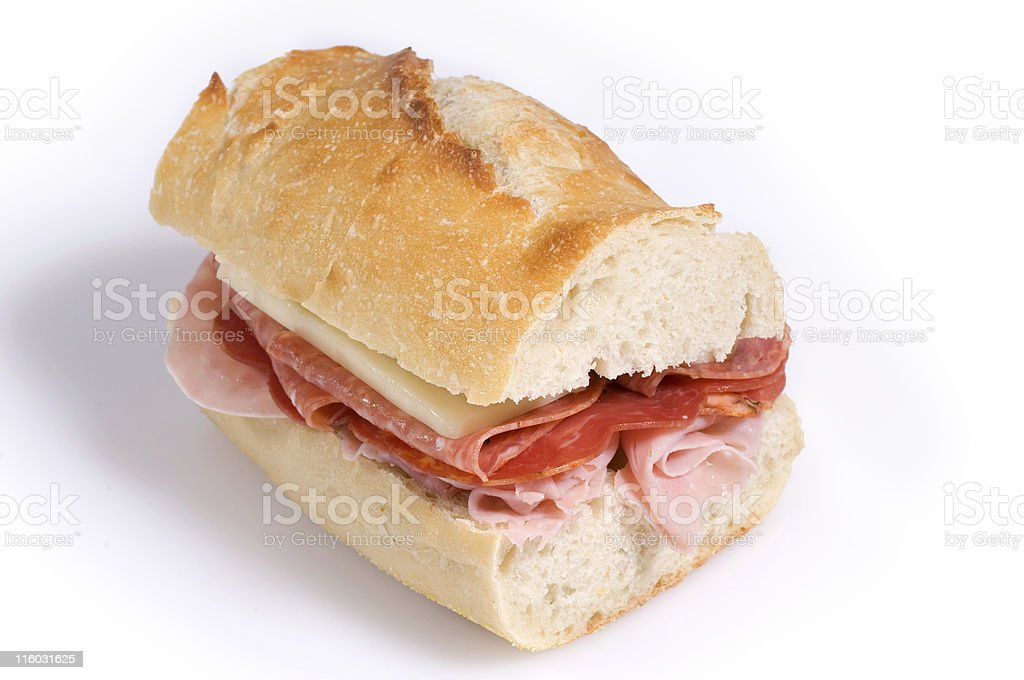 Half Italian Sandwich royalty-free stock photo