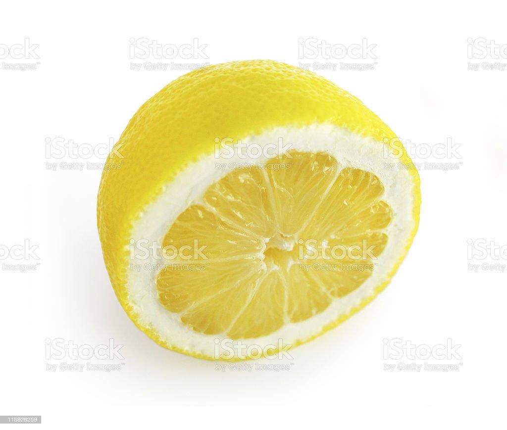 Half Lemon Isolated - Clipping Path royalty-free stock photo