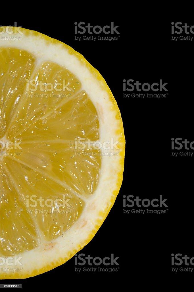Half Lemon on Black royalty-free stock photo