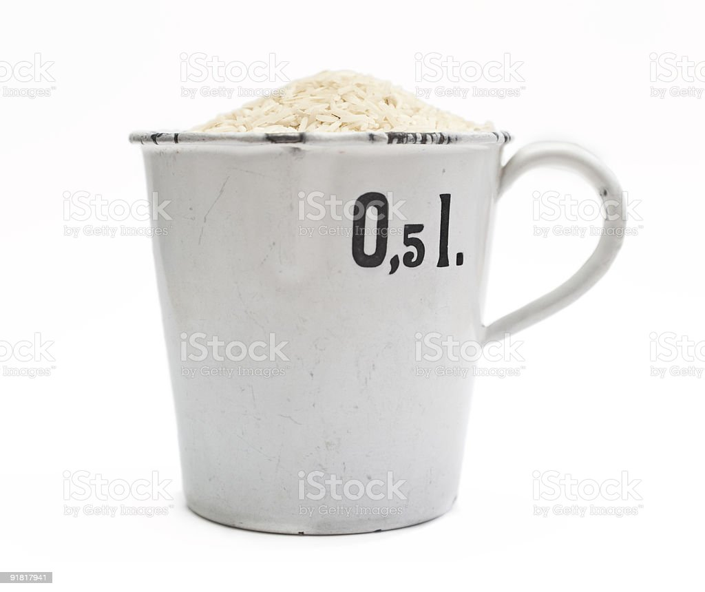 Half Liter of rice royalty-free stock photo