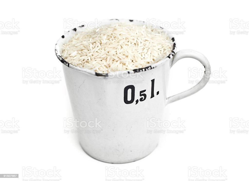 Half Liter rice royalty-free stock photo