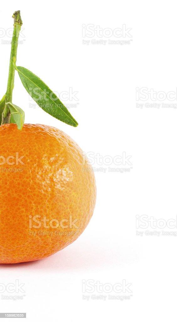 half mandarin royalty-free stock photo