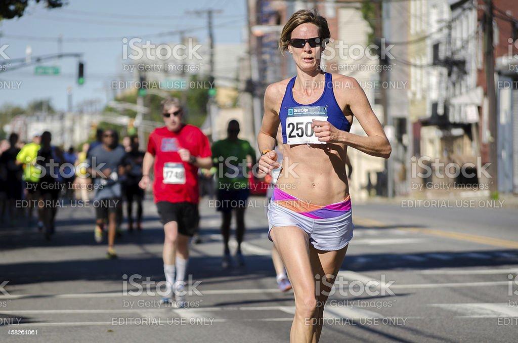 Half Marathon - Newport Road Race royalty-free stock photo